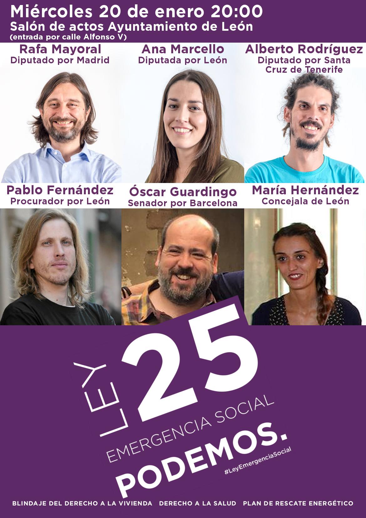 Presentación Ley 25 en León