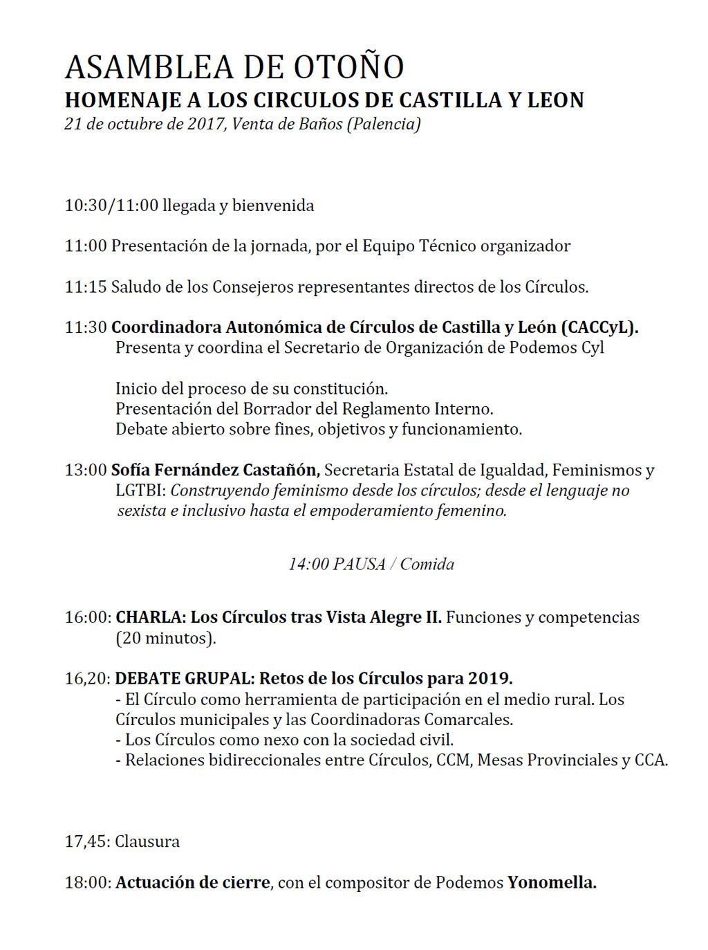 Asamblea-Otoño-2017-Venta-Baños-Programa