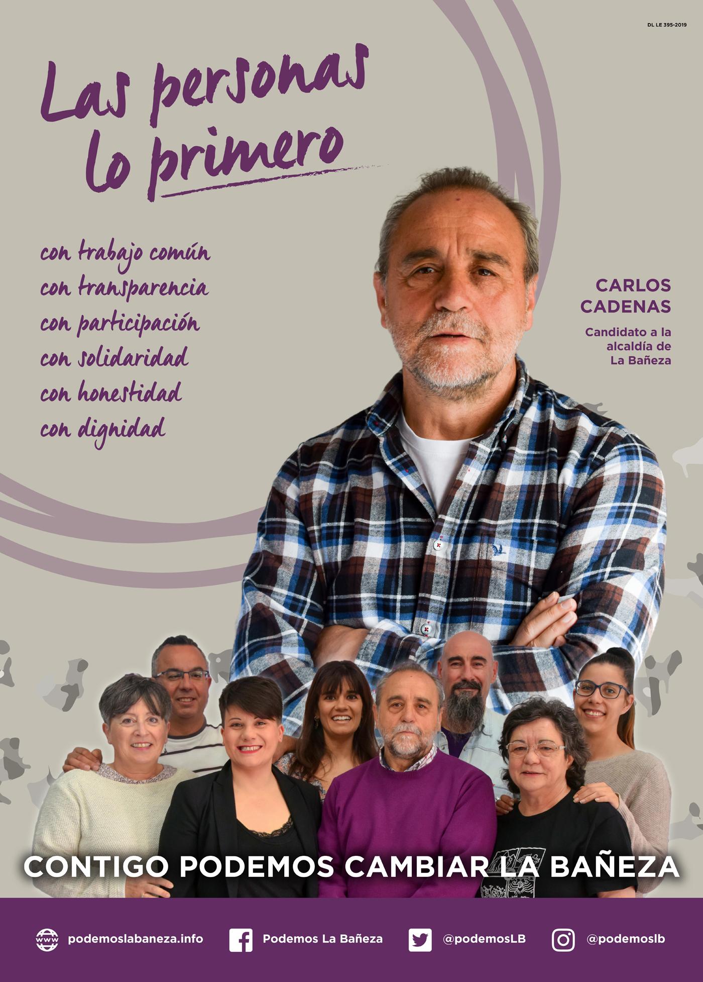 Cartel campaña 2109 en La Baneza 1400