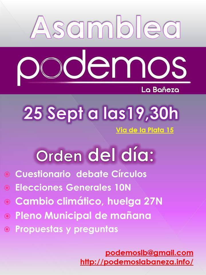 Asamble Podemos La Bañeza